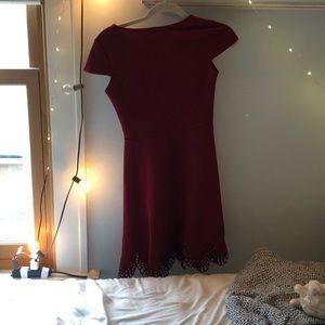 peach royal Dresses - red lace detail skater dress!!!